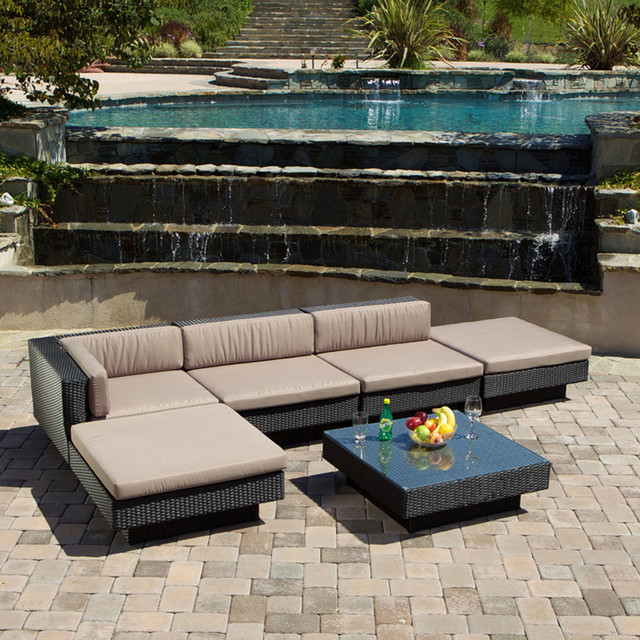 Attractive Luxury Outdoor Patio Furniture Outdoor Patio Furniture 6pcs Wicker Luxury Sectional Sofa Seating
