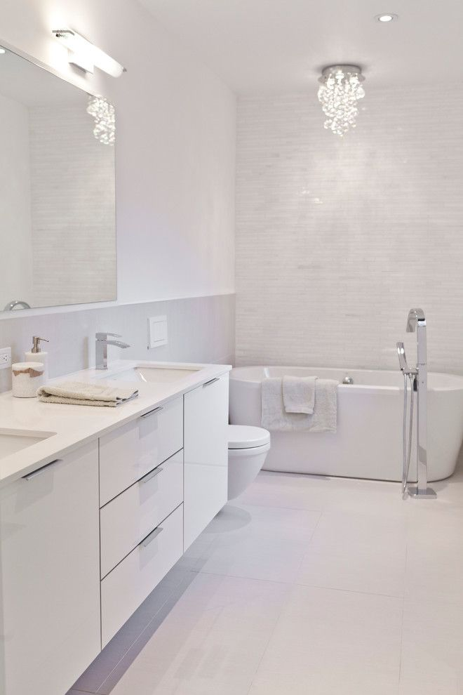 Attractive Modern Bathroom White Best 25 Modern White Bathroom Ideas On Pinterest Modern