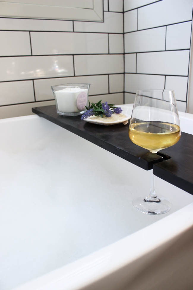 Attractive Modern Bathtub Tray Build Your Own Bath Table With Wine Glass Holders Love Create