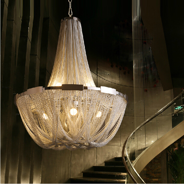 Attractive Modern Chain Chandelier Modern Luxury Chandelier Iron Chain Large Chandelier Buy Luxury