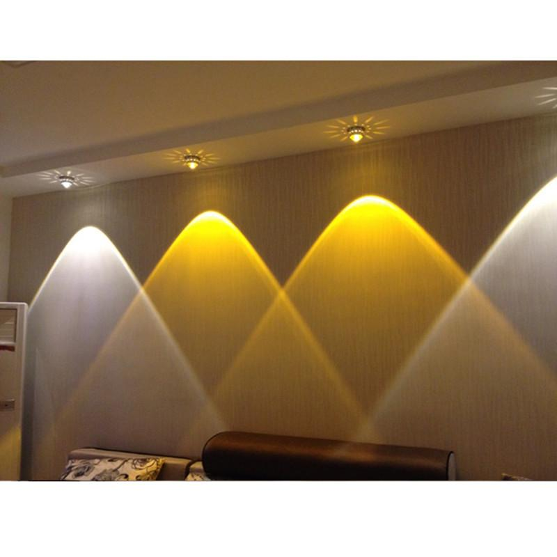 Attractive Modern Led Lighting 3w Crystal Led Ceiling Lights Restaurant Ktv Aisle Living Room