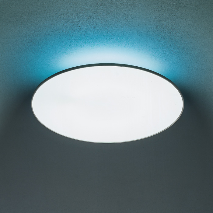 Attractive Round Ceiling Light Artemide Float Round Ceiling Light With Blue Filter Panik Design