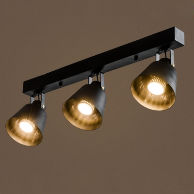 Attractive Spotlight Ceiling Light 24 Inches Wide 3 Light Industrial Style Led Spotlight Ceiling