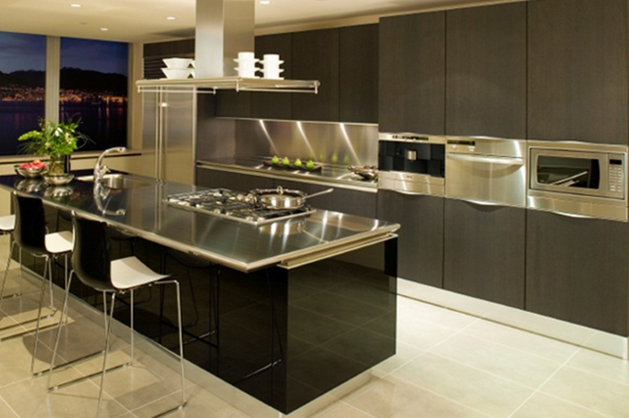 Attractive Top Kitchen Designs Kitchen Top Kitchen Designs Grey Rectangle Modern Wooden Top