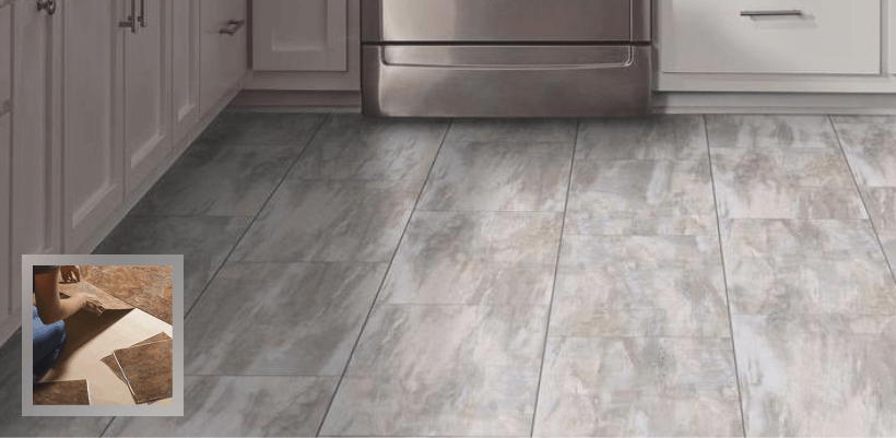 Attractive Vinyl Flooring That Looks Like Tile Vinyl Flooring Vinyl Floor Tiles Sheet Vinyl