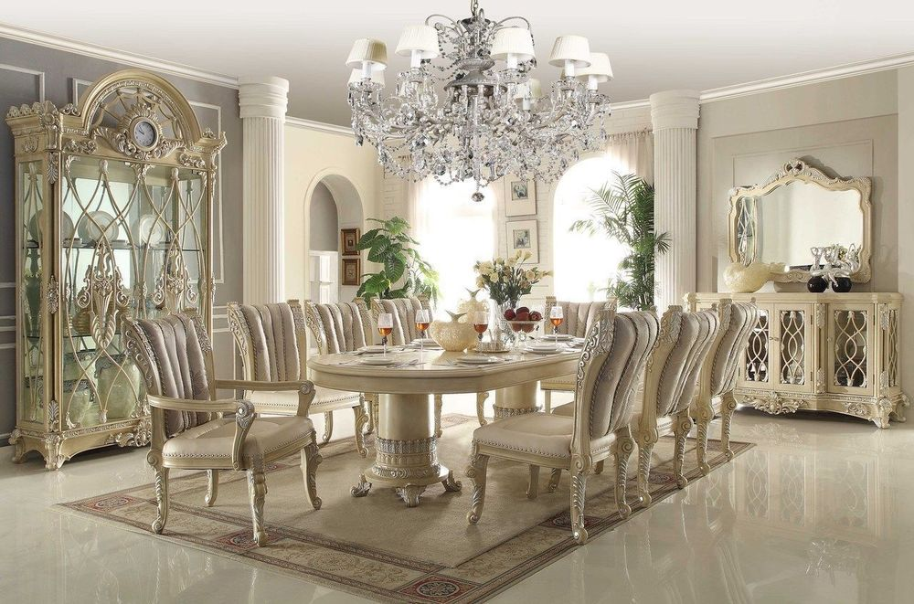 Attractive White Dining Room Sets Formal White Dining Room Set Createfullcircle