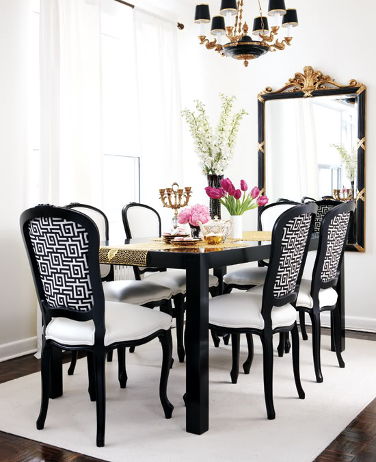 Awesome Black And White Dining Room Furniture Black And White Dining Room French Dining Room Style At Home