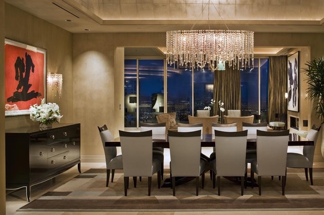 Awesome Contemporary Chandeliers For Dining Room Turnberry Dining Room