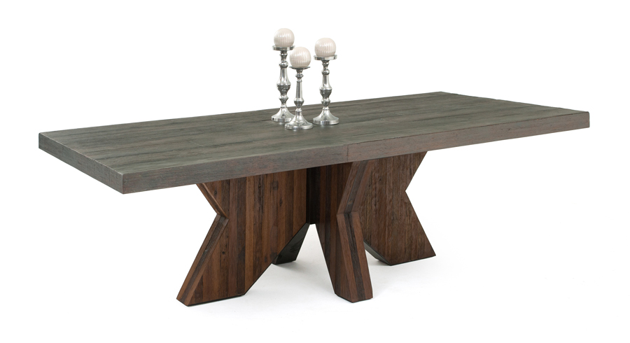 Awesome Contemporary Wood Dining Table Reclaimed Wood Table Modern Design Sustainable Environment