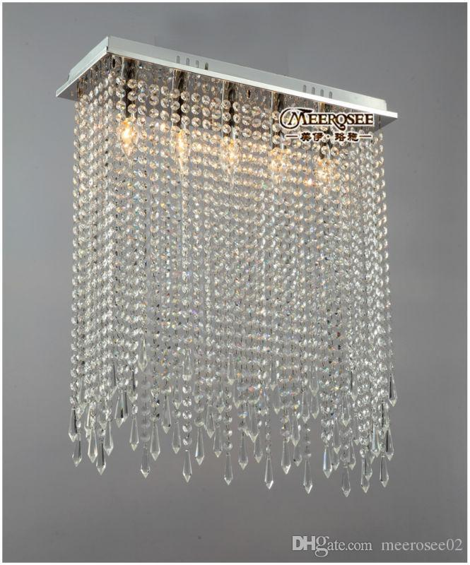 Awesome Crystal Ceiling Lights Rectangle Shape Crystal Ceiling Lights Fixture Clear Curtain