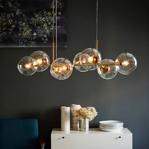 Awesome Glass Ball Chandelier Staggered Glass Chandelier 8 Light West Elm
