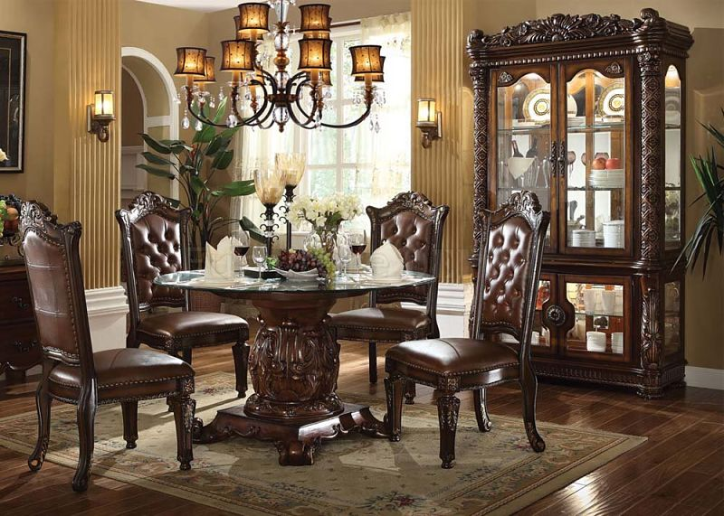 Awesome High End Formal Dining Room Sets Dallas Designer Furniture Vendome Round Set