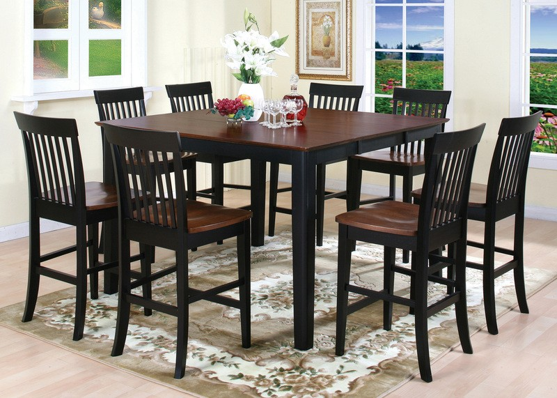 Awesome High Top Dining Room Chairs Kitchen Tables And More Casual Dinning Room Design With High Top