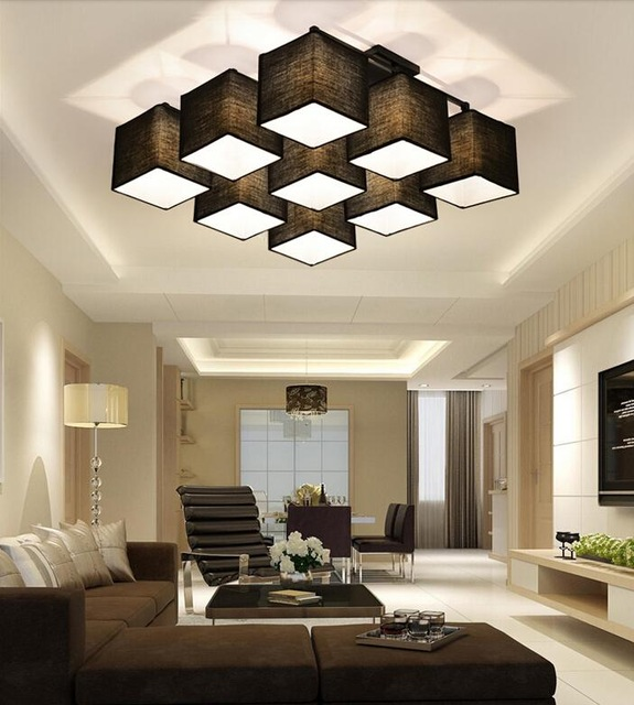 Awesome House Ceiling Lights Country Style Multi Square Shade Ceiling Light Dinner Room Lamp