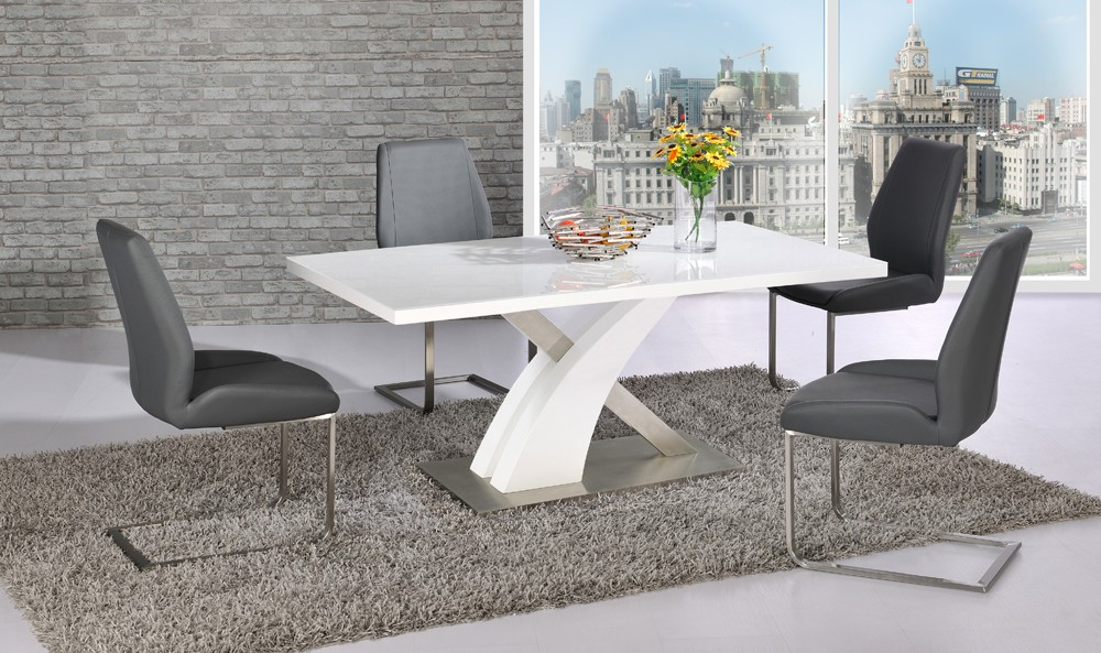 Awesome Large White Dining Room Table Extending Black Glass White High Gloss Dining Table And 8 Chairs
