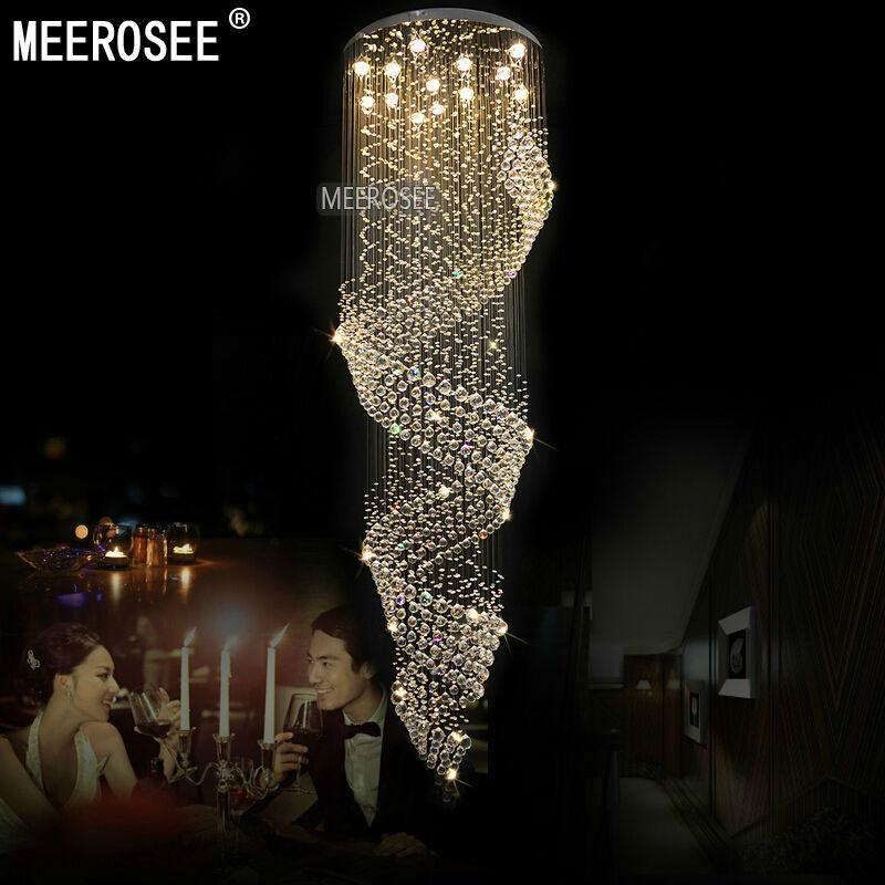 Awesome Long Chandelier Light Long Size Crystal Chandelier Light Fixture For Lob Staircase