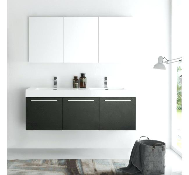 Awesome Modern Bathroom Vanity Base Peachy 60 Bathroom Cabinet Vista Black Wall Hung Double Sink