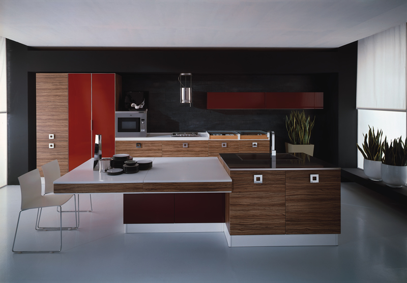 Awesome Modern Italian Kitchen Cabinets Kitchen Design Pictures Fresh Green Plant Decor Square Brown