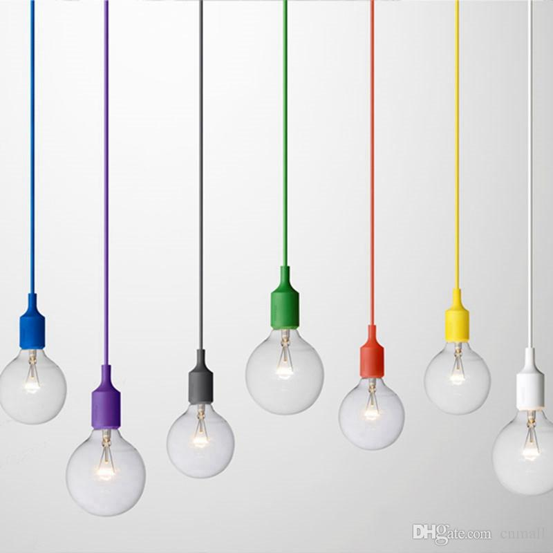 Awesome Pendant Ceiling Lamp Art Decor Silicone E27 Pendant Lamp Ceiling Light Bulb Holder