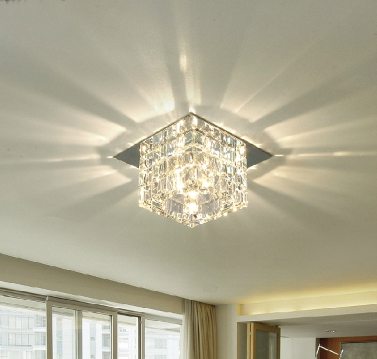 Awesome Popular Ceiling Lights Classy 20 Bathroom Ceiling Lights Crystal Square Decorating