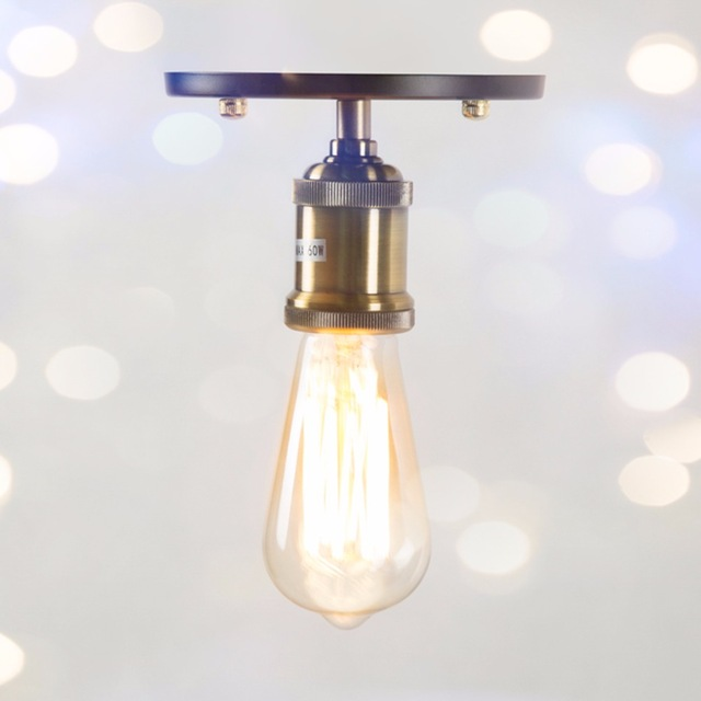 Awesome Small Ceiling Lamps Vintage Ceiling Light E27 Iron Loft Small Lights Edison St64 Bulb
