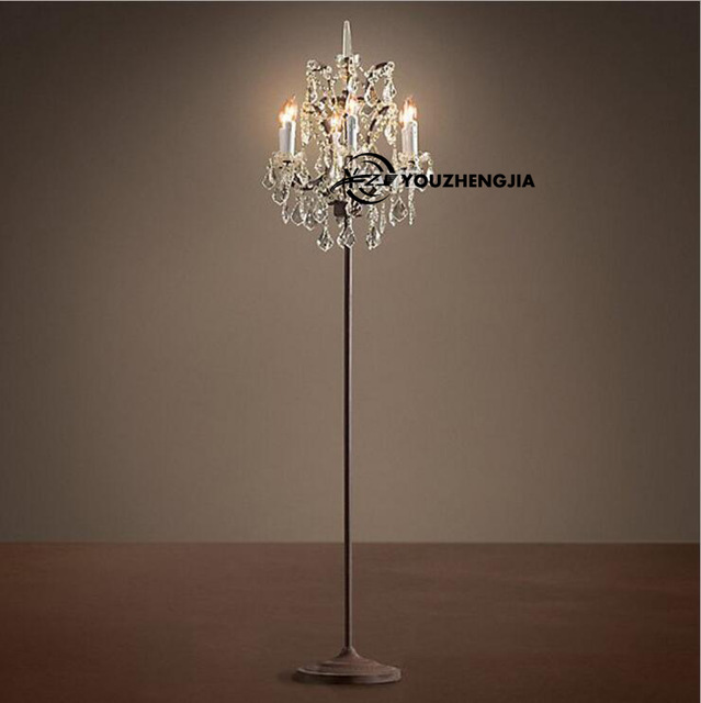 Awesome Upscale Floor Lamps Modern American Retro Upscale K9 Crystal Candle Floor Lamp Luxury