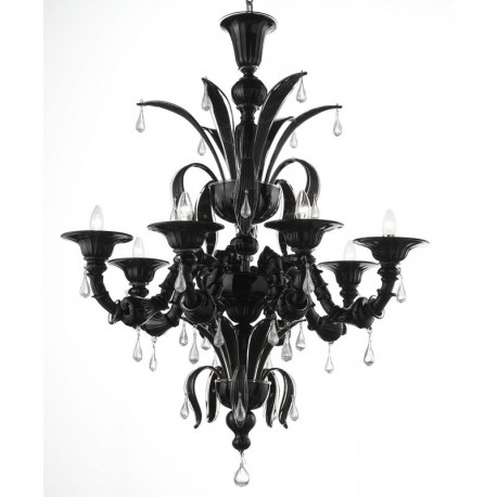 Beautiful Black Glass Chandelier Paradiso Black Murano Glass Chandelier Murano Glass Chandeliers