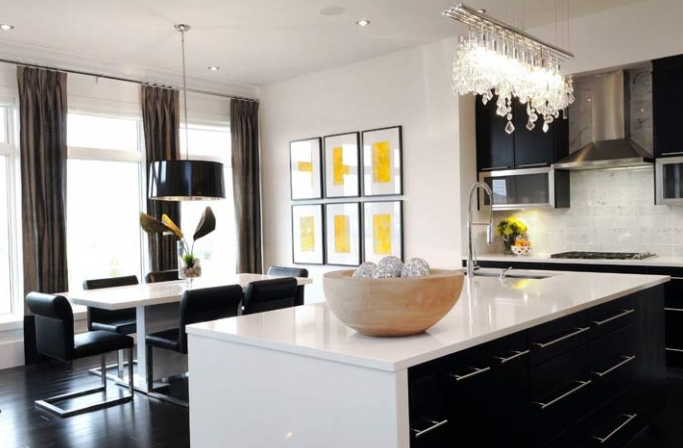 Beautiful Black Kitchen Chandelier Linear Strand Crystal Chandelier Contemporary Dining Room