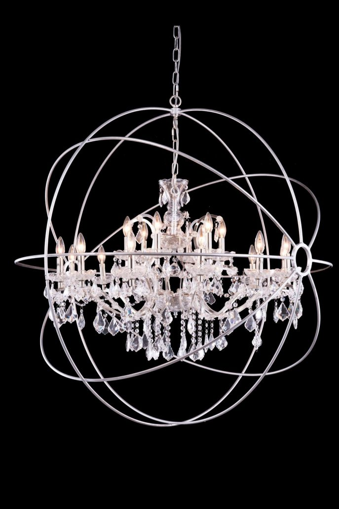 Beautiful Black Sphere Chandelier Chandelier Foucaults Orb Clear Crystal Chandelier Chrome Orb