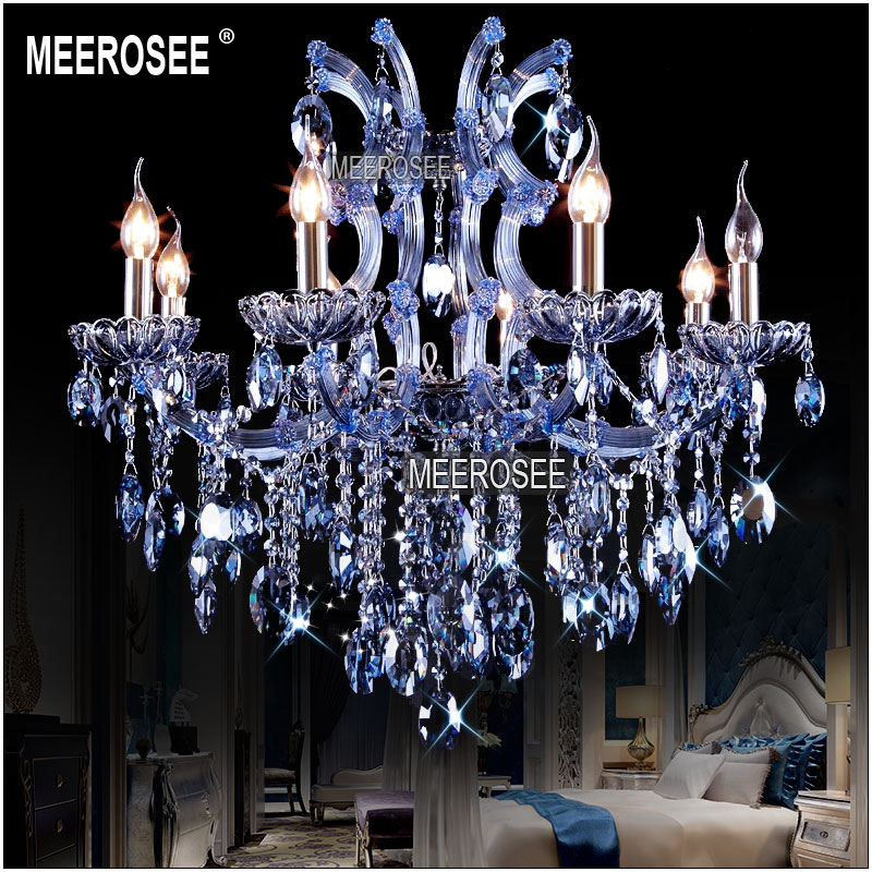 Beautiful Blue Crystal Chandelier Light Aliexpress Buy 8 Lights Blue Crystal Chandelier Light