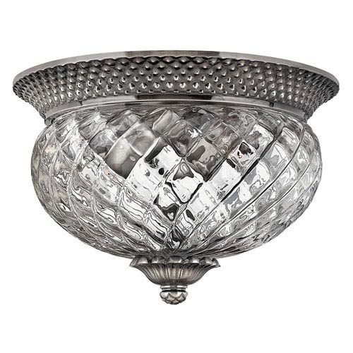 Beautiful Ceiling Sconce Lighting Hinkley Plantation Polished Antique Nickel Two Light Flush Ceiling