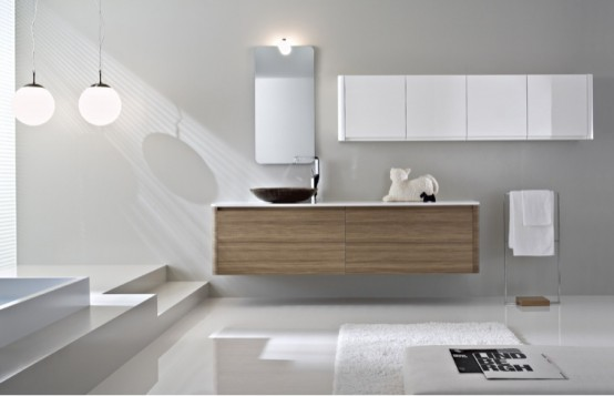 Beautiful Contemporary Bathroom Furniture Brilliant Decoration Modern Bathroom Cabinets For The Large House