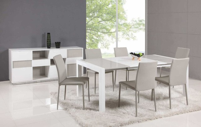 Beautiful Contemporary Dining Room Sets Italian Kitchen Extendable Glass Top Leather Italian Dining Table And