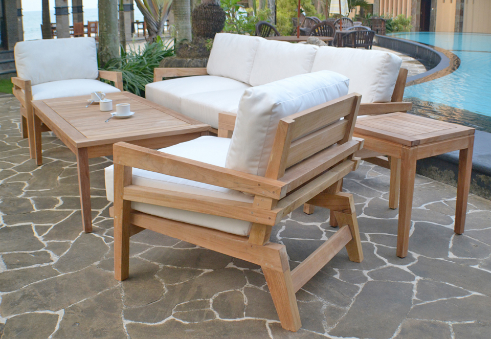 Beautiful Contemporary Teak Outdoor Furniture How To Seal Teak Outdoor Furniture Home Designing
