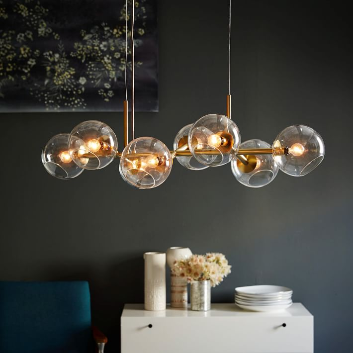 Beautiful Glass Chandelier Lighting Staggered Glass Chandelier 8 Light West Elm