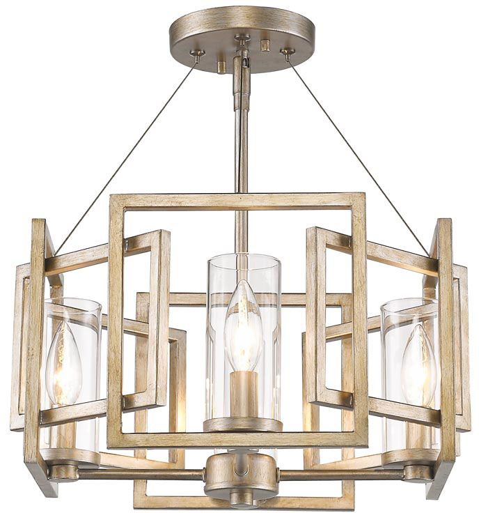 Beautiful Hanging Ceiling Light Fixtures Golden Lighting 6068 Sf Wg Marco Modern White Gold Semi Flush