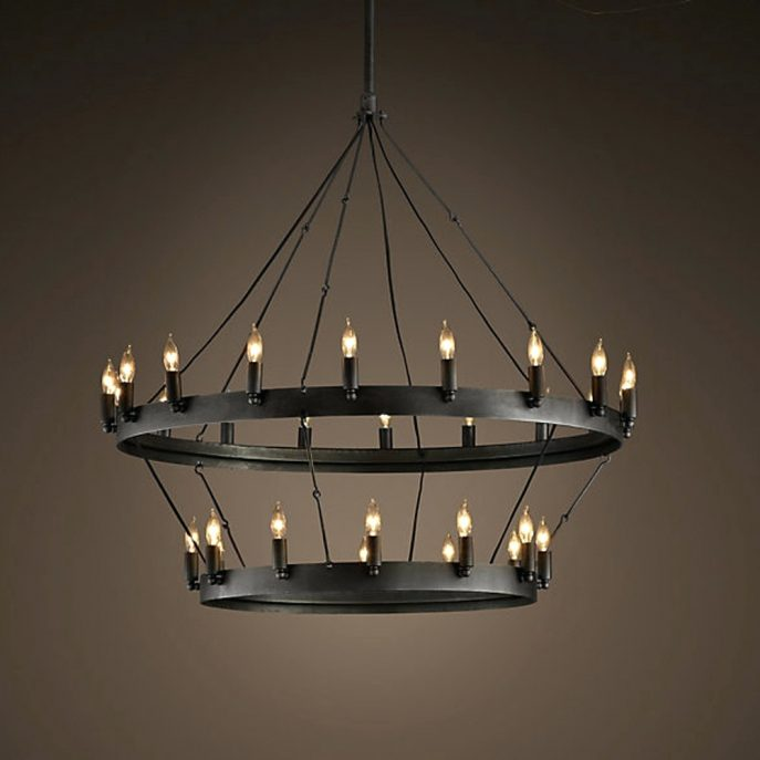 Beautiful Large Round Chandelier Chandeliers Design Awesome Locker Chandelier Industrial Large