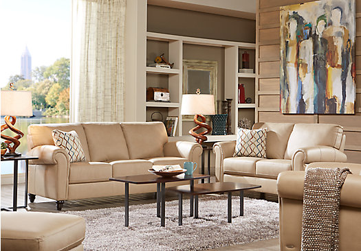 Beautiful Leather Living Room Catchy Beige Leather Living Room Set 3 Piece Leather Living Room