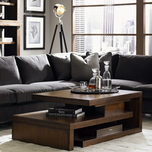 Beautiful Living Room Tables 25 Wooden Living Room Tables A Wooden Coffee Table In The Living