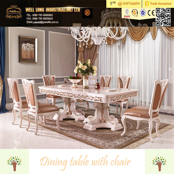 Beautiful Luxury Dining Table Set Baroque Antique Style Italian Dining Table 100 Solid Wood Italy