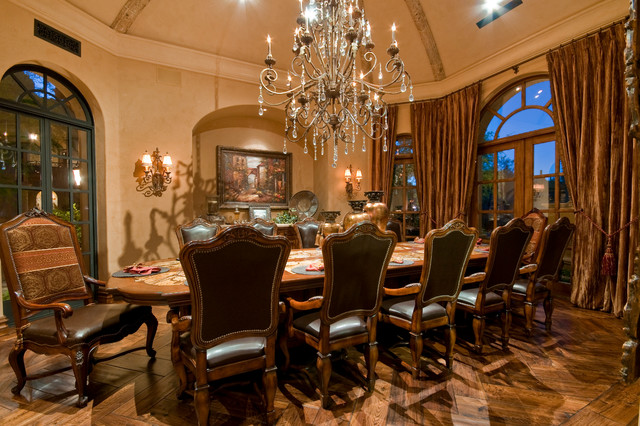 Beautiful Luxury Formal Dining Room Mediterranean Dining Room