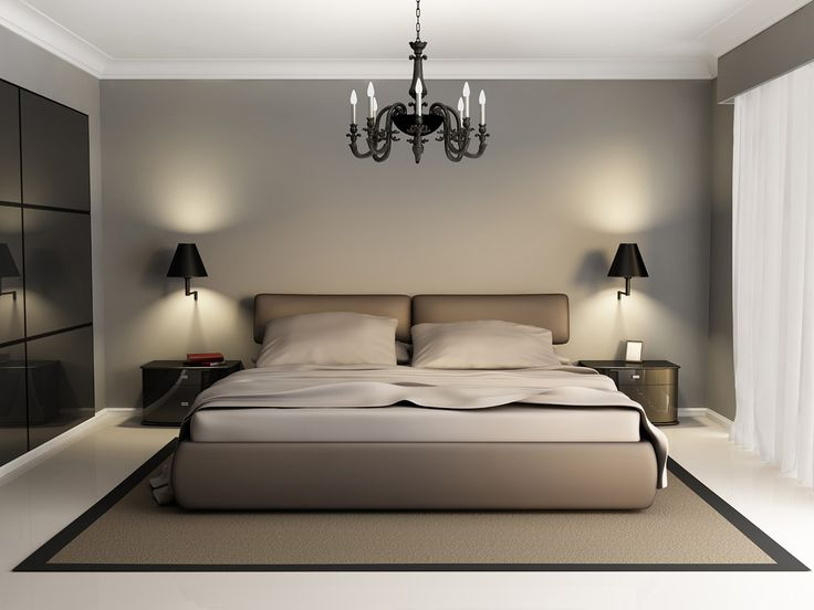 Beautiful Luxury Modern Beds Modern Luxury Elegant Bedroom Interior Chandelier Front
