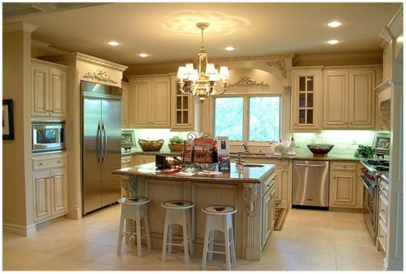 Beautiful Luxury Small Kitchen Design Simple White Color Luxury Small Kitchen Design Idea Home Design