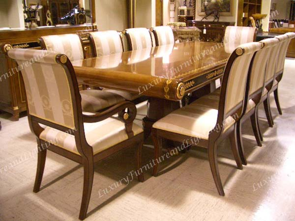 Beautiful Luxury Wooden Dining Tables New Empire Dining Room Series Luxury Furniture And Lighting