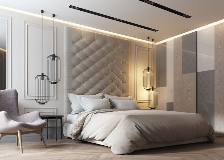 Beautiful Modern Bedroom Wall Designs Apartments In Ukrainedesign Dede Interior Studiovisualization