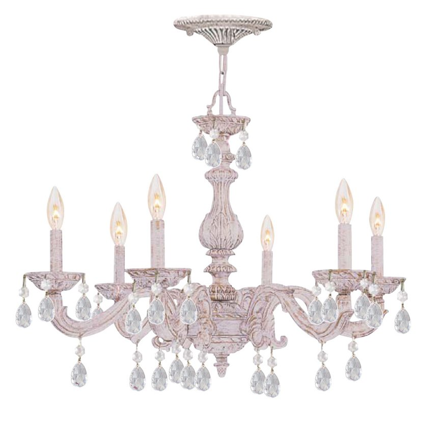 Beautiful Shabby Chic Chandelier White Shab Chic Chandelier With Crystals