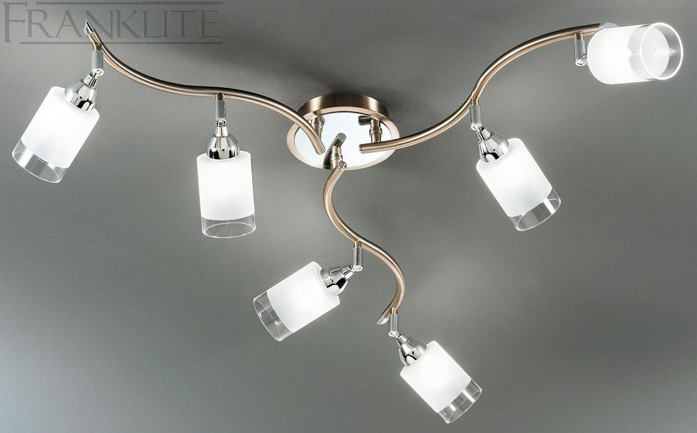 Beautiful Spotlight Ceiling Light Franklite Campani 6 Spotlight Ceiling Light Spot8776 Franklite