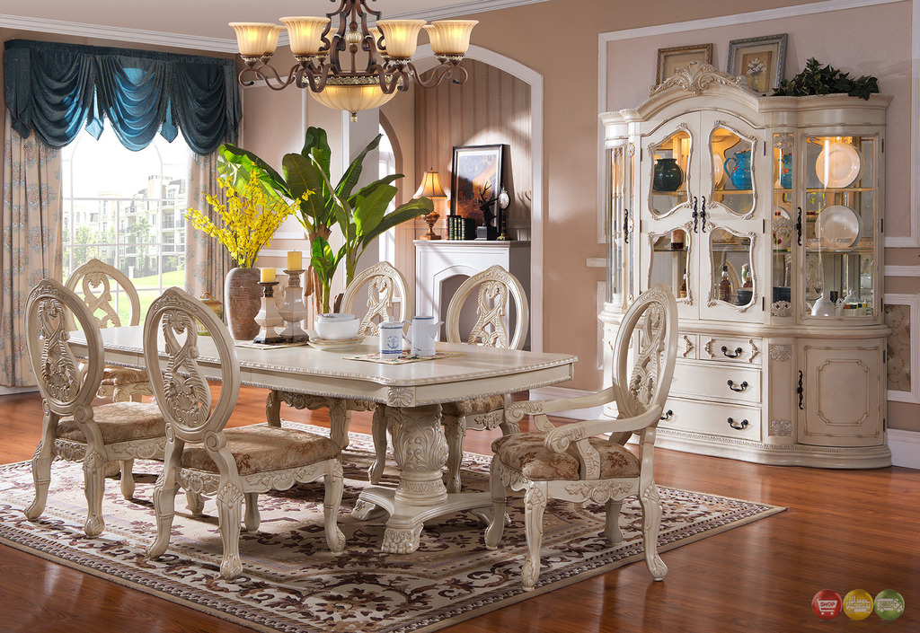 Beautiful White Dining Room Sets Formal Antique White Dining Room Set Plush Design Formal Sets 10 On Home