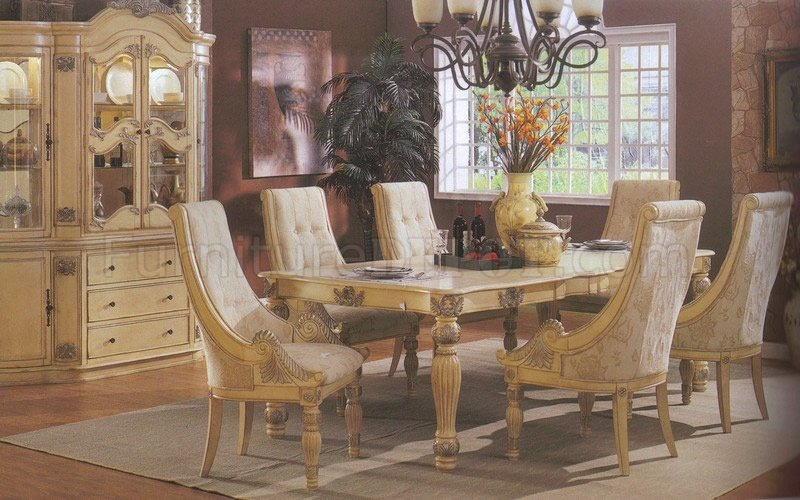 Beautiful White Formal Dining Table Antique White Finish Formal Dining Table Woptional Chairs Antique