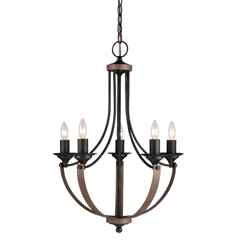 Best 5 Light Chandelier Laurel Foundry Modern Farmhouse Kenna 5 Light Mini Chandelier